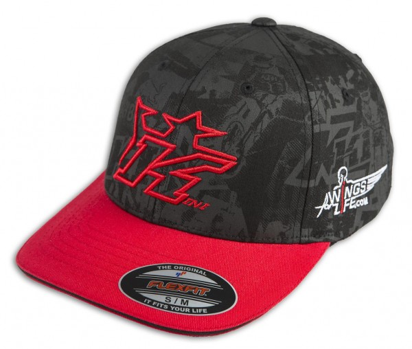 KINI-RB Background Cap Black/Red
