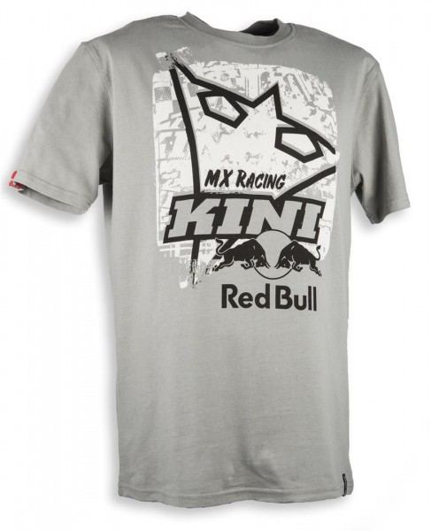 KINI Red Bull Square Tee Stone Größe Large