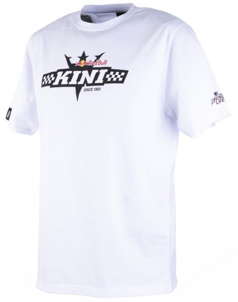 Kini Red Bull Finish Flag Tee White